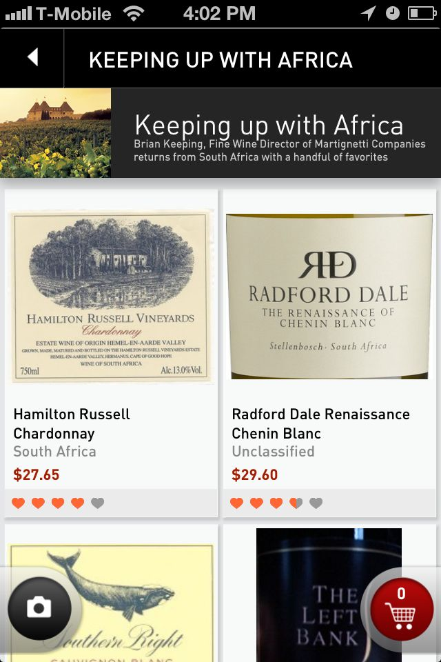"Looking to try something new? South African wine could be it! Check out our ""Keeping up with Africa"" wine list for some ideas. https://itunes.apple.com/us/app/drync-discover-buy-wine-you/id587372739?mt=8"