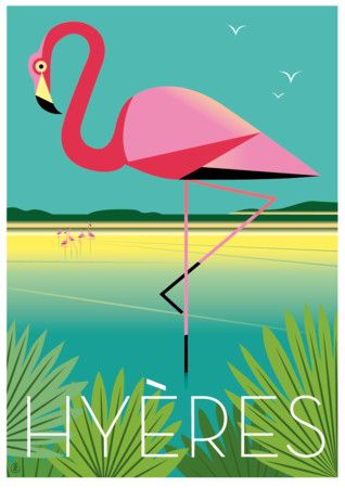 Travel Poster - Hyères - French Riviera.