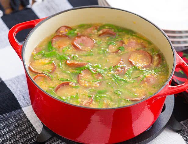Sopa de Canjiquinha com Paio