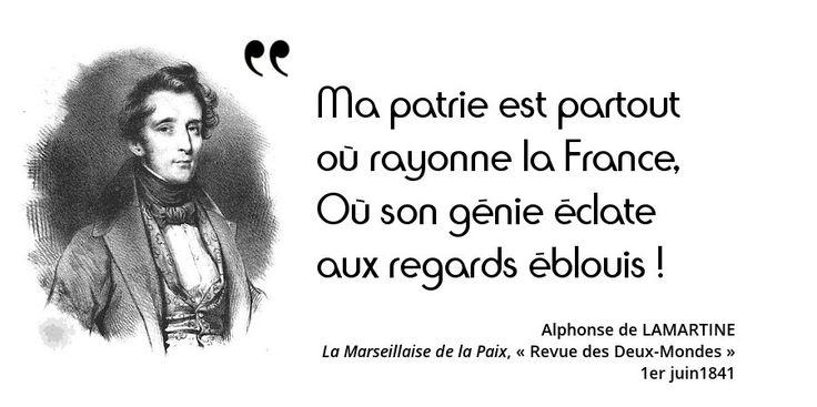 Redécouvrez en citations Lamartine, poète, historien (des Girondins sous la Révolution) et homme politique