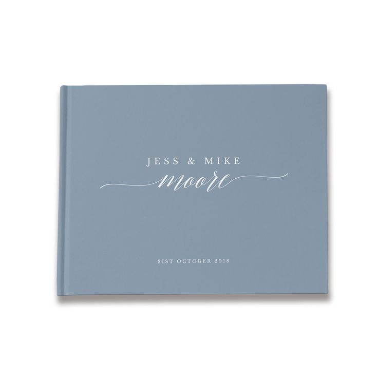 Adele Dusty Blue Personalized Guest Book