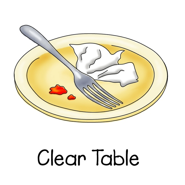 clear dishes chore chart clipart pinterest dishes