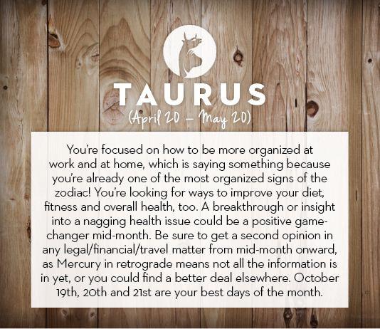 #Taurus October #horoscope 2013