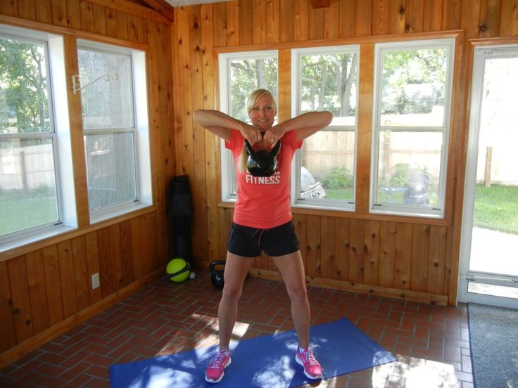 Post preggo workout with kettle bell