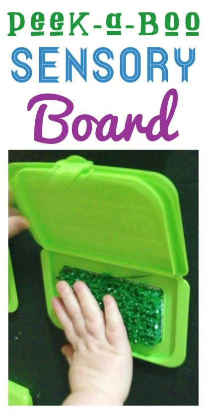 DIY Peek-a-boo sensory board