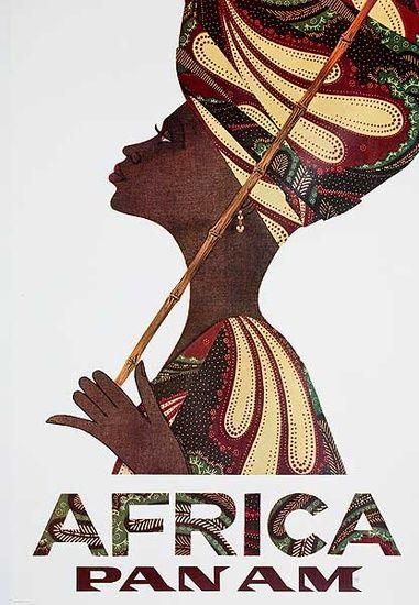 アフリカ : 【そうだ旅に出よう】世界のレトロ観光ポスター画像集 - NAVER まとめ