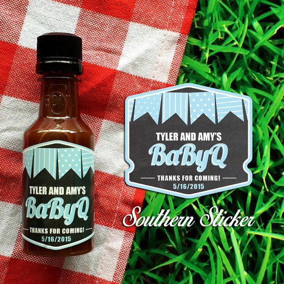 Babyq Custom Barbecue Sauce Favors Personalized Bbq Labels