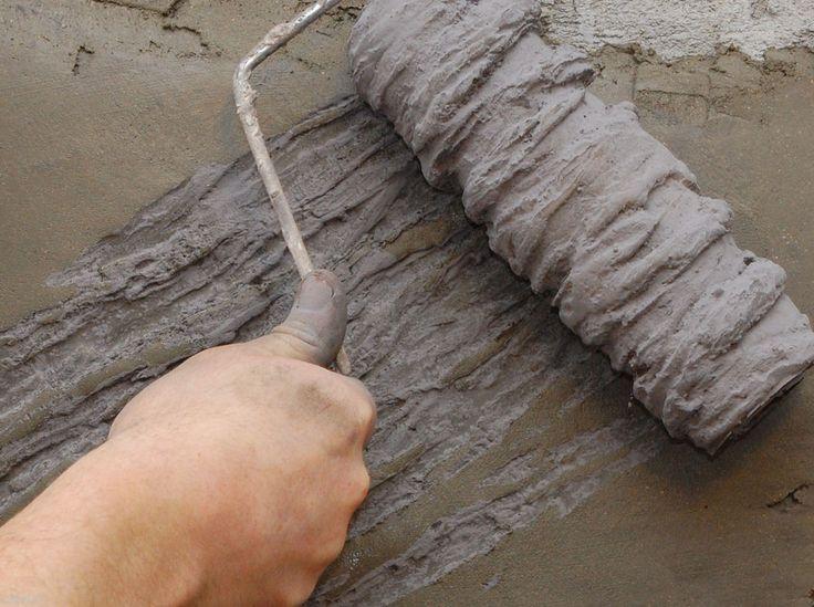 Vertical Concrete Tru Texture Roller Sleeve  - Heavy Bark #TruImpressions