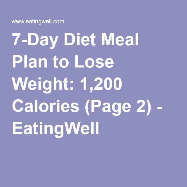 #7Day #Calories #Diet #EatingWell #Lose #meal