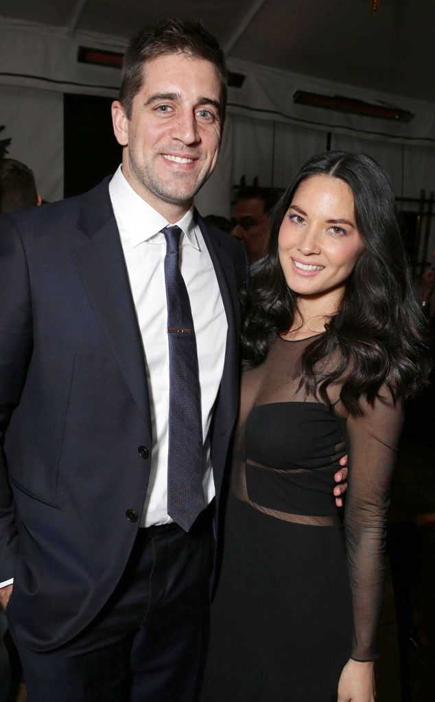 Aaron Rodgers and Olivia Munn enjoy a date night at the Mortdecai premiere!