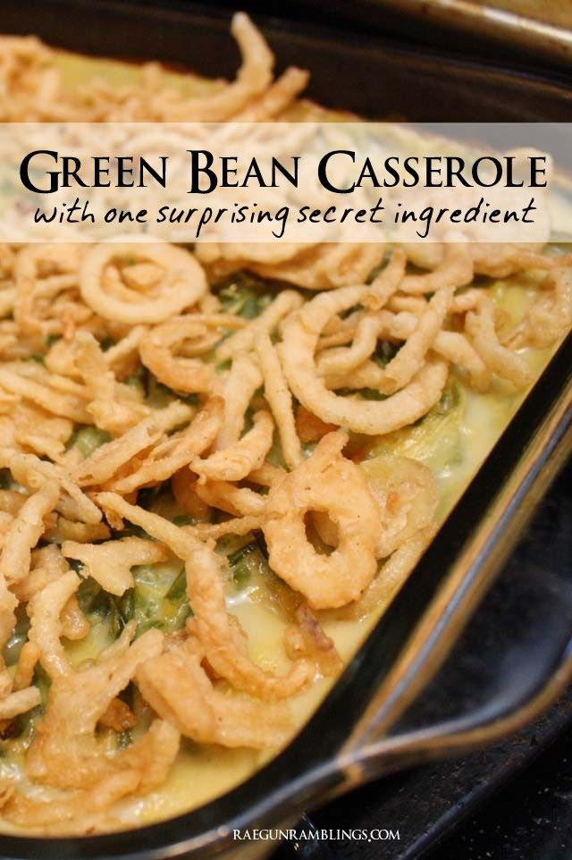 Easy green bean casserole recipe and other great for Easy thanksgiving green bean recipes
