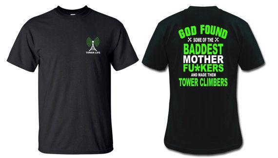 Cell Tower Climber Tower Dawg shirt
