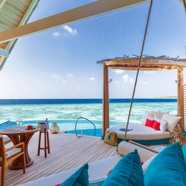 Let's head into the weekend with this view from the deck of a water pool villa . . . . #milaidhoo #maldives #private #luxury #island #resort #slh #dream #instahappy #pool #sun #happy #wanderlust #bucketlist #holidaygoals #ocean #blue #luxurytravel #instatravel #jetset #visitmaldives #smallluxuryhotels #potd