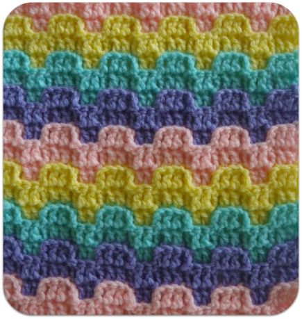 Victorian Step- Bargello Crochet Row Designs ~ Free Pattern