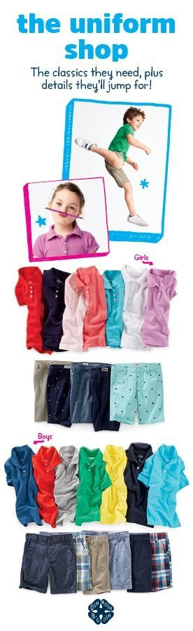 Stock up on school uniforms, polos, shorts and more! Shop back to school now.