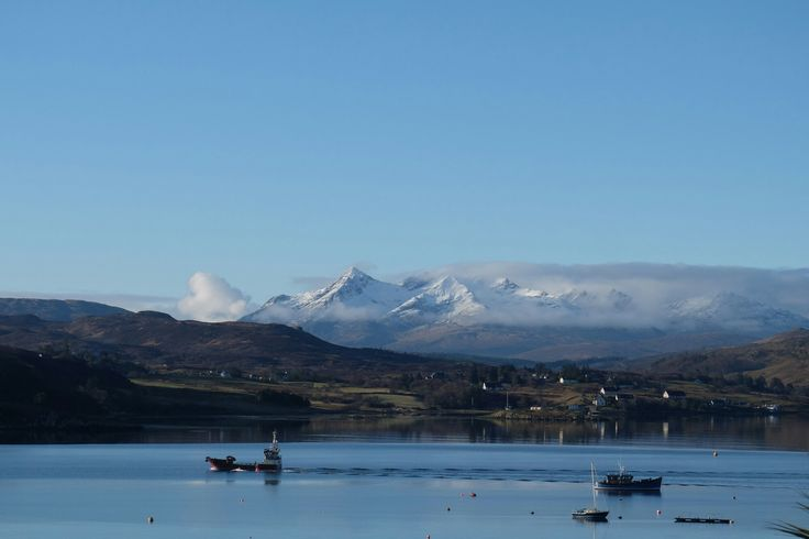 Isle of Skye with view of Cuillin Hills from the  Cuillin Hills Hotel at Portree