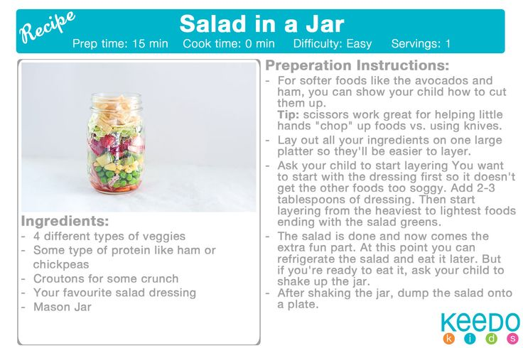 Salad in a Jar http://www.hellowonderful.co/post/COOKING-WITH-KIDS--SALAD-IN-A-JAR