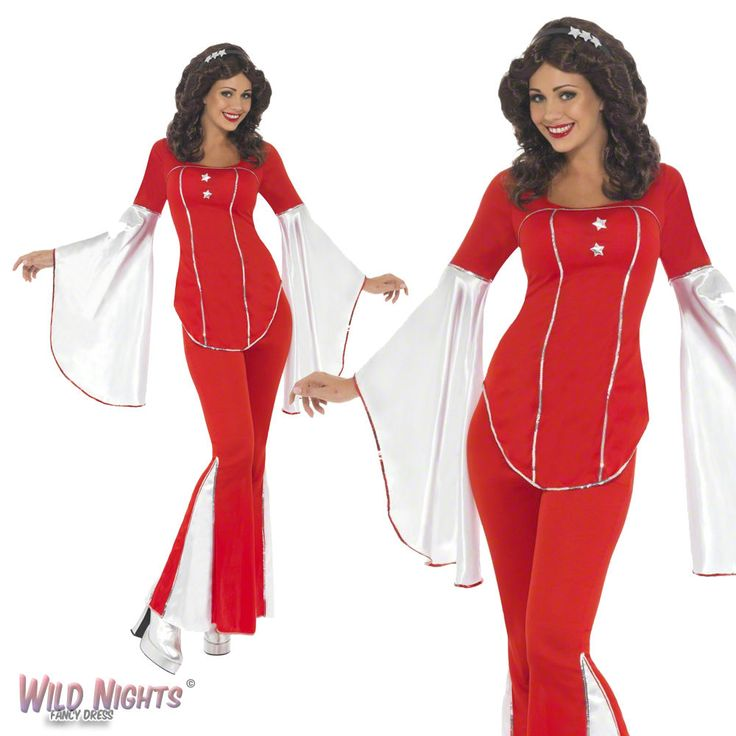 Fancy #dress costume # ladies #1970s pop music #super trooper red size 8-18,  View more on the LINK: 	http://www.zeppy.io/product/gb/2/142216113941/