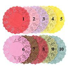 """4.5 """"Colores Mezclados Paper Lace Doilies/Manteles para el Banquete de Boda Suministros de Decoración Papel Scrapbooking Artesanía(China (Mainland))"""