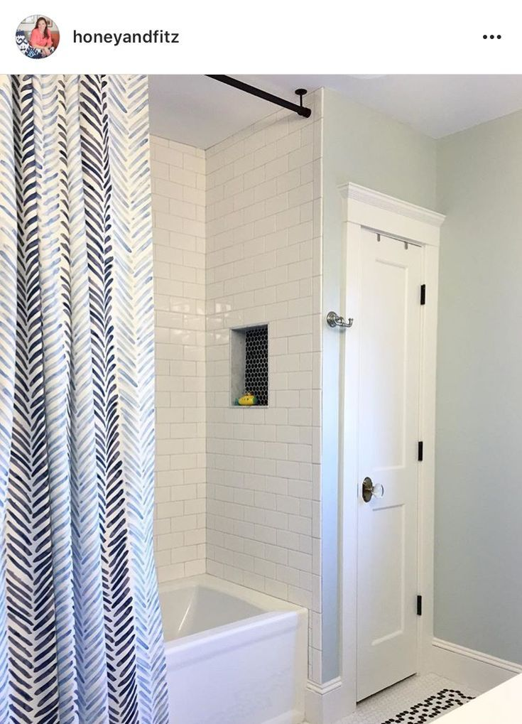 Hanging A Shower Rod From Ceiling With Images Bathroom Shower