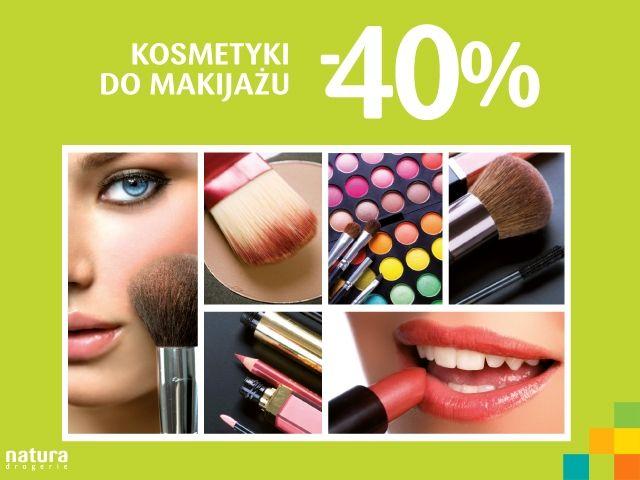 DROGERIA NATURA: kosmetyki do makijażu -40% taniej