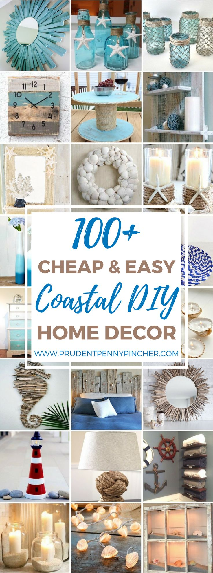 Here is a round up of the best cheap and easy coastal DIY home decor projects on the internet so that you can bring some of the beach to your home. I live in Florida so I am able to find many of the supplies for these DIY projects like shells, sand and wood for …