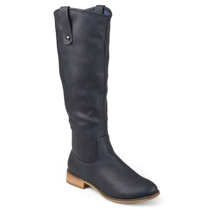 Journee Collection Taven Women's Riding Boots, Size: medium (7.5), Blue (Navy)
