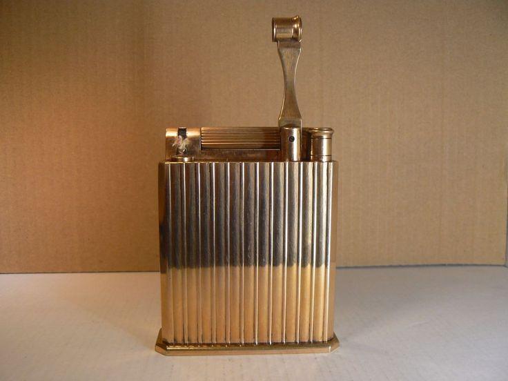 Briquet Dupont jeroboam essence  de table ; doré
