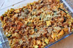 Gerechten zonder pakjes en zakjes #60. Macaroni ovenschotel kip mozzarella tomaat (Honig)