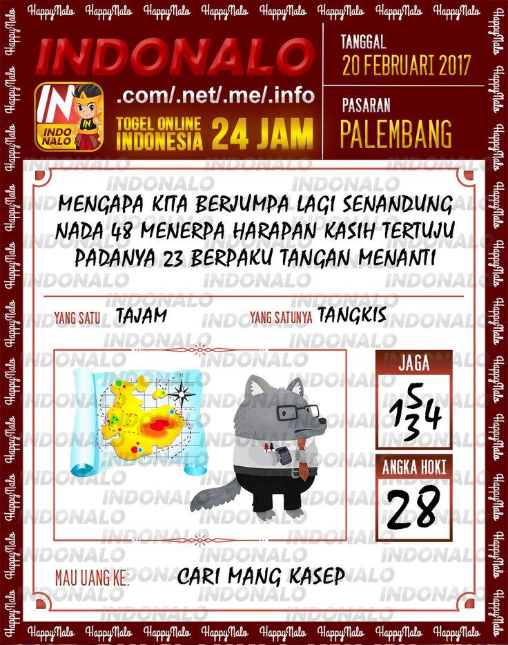Taysen Hoki 4D Togel Wap Online Live Draw 4D Indonalo Palembang 20 Febuari 2017