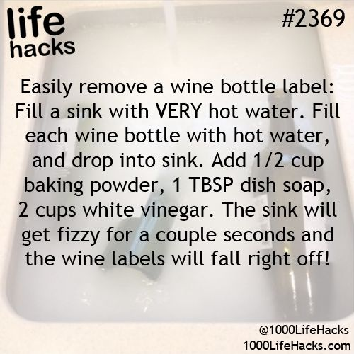 Don't know if I will EVER need this but pinning just in case...  Wine bottle label remover!