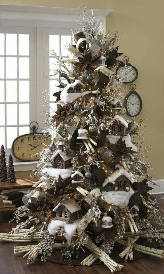 Christmas Tree Log Cabins sorry