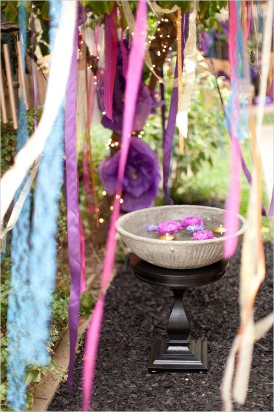 bridal shower ideas #bridalshowerideas #RadiantOrchid #weddingchicks http://www.weddingchicks.com/2013/12/18/purple-and-gold-bridal-shower-ideas/