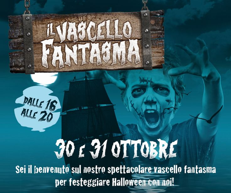Il 30 e il 31 Ottobre dalle 16 alle 20, sei il benvenuto sul nostro spettacolare vascello fantasma. Ti aspettiamo per festeggiare Halloween tutti insieme!