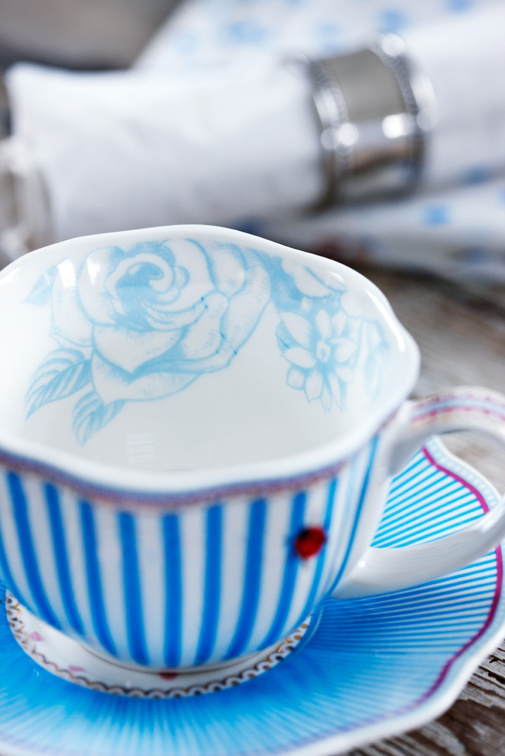 Tea party blue and white with love by Lisbeth Dahl Copenhagen Spring/Summer 13. Ooh I do love this!!!