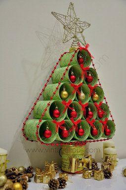 Diy arbol de Navidad con latas recicladas