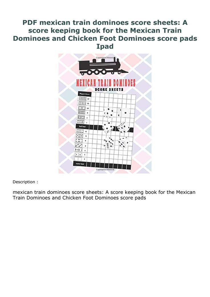 PDF mexican train dominoes score sheets A score keeping