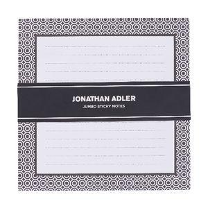 Jonathan Adler Jumbo Square Sticky Notes Black