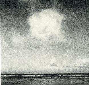 Christopher Rådlund - U.T (sky)   Galleri Briskeby   stenlitografi