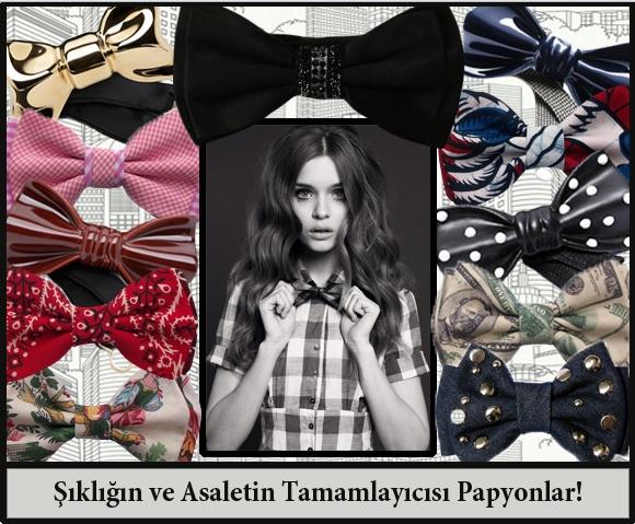 Maskülen Bir Çizgi Yaratan Papyonlar!    http://www.morjeemoda.com/moda/trendler/maskulen-bir-cizgi-yaratan-papyonlar