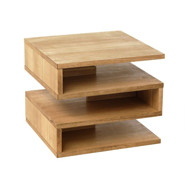 Bout de canap ch ne zig les bouts de canap tables for Alinea table basse bois
