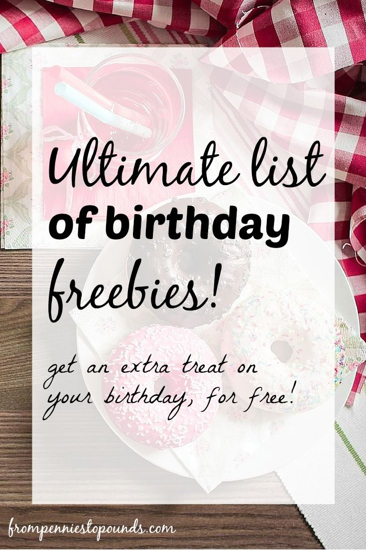 UK Birthday Freebies List! Check out this blog post for a list of freebies that are available to you on your birthday as an extra gift to yourself! http://www.frompenniestopounds.com/birthday-freebies-gifts-birthday-free/