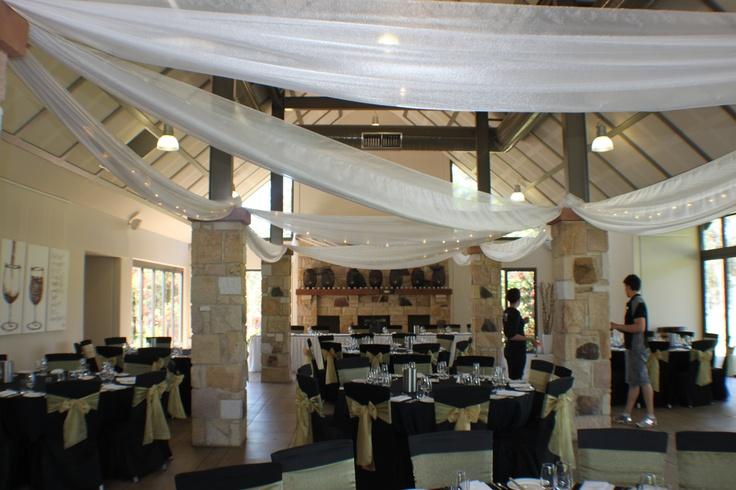 #wedding #weddingreception #ceilingdrapery #drapery #fairylights