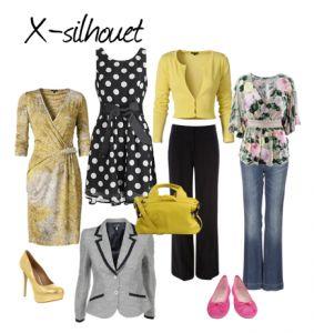 X-silhouet-kleding