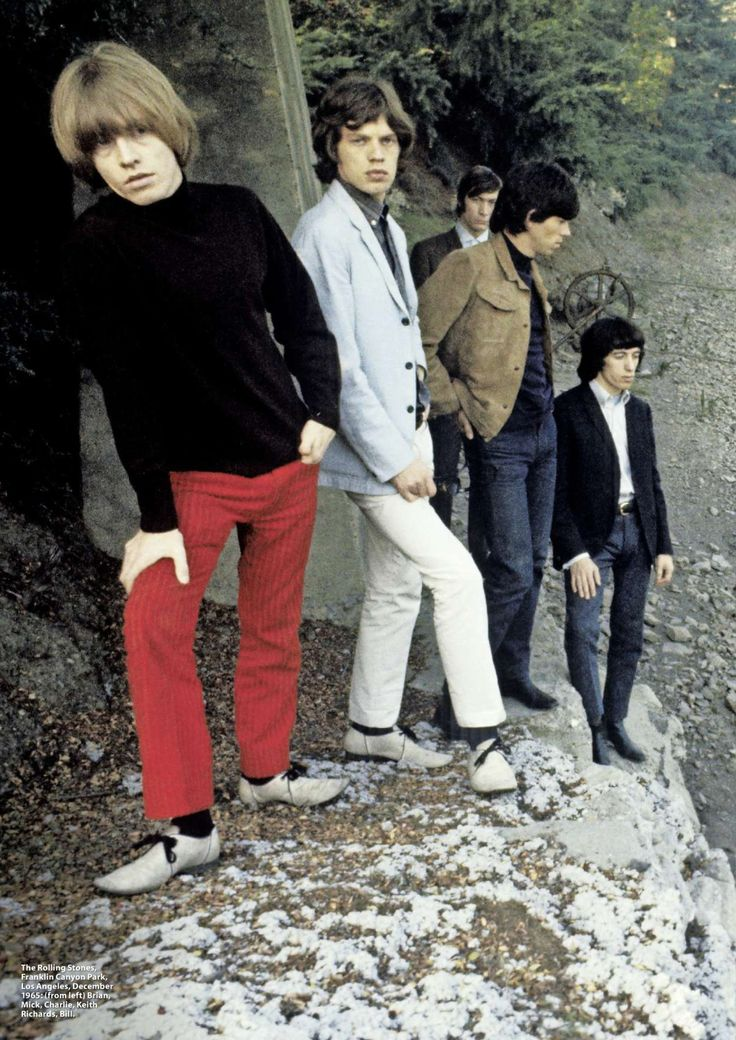 The Rolling Stones in California, photo from the High Tide and Green Grass album photo shoot 1966