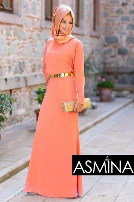 2014 Asmina Tesettür Abiye Modelleri