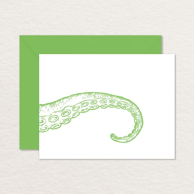 Tentacle A2 Printable Note Card / Printable Stationery / Octopus Card / Cthulu Card by Brainooli on Etsy https://www.etsy.com/listing/245701317/tentacle-a2-printable-note-card. $3.75