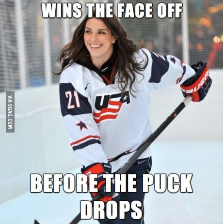 I present to you: Incredibly Photogenic Women's Hockey Player