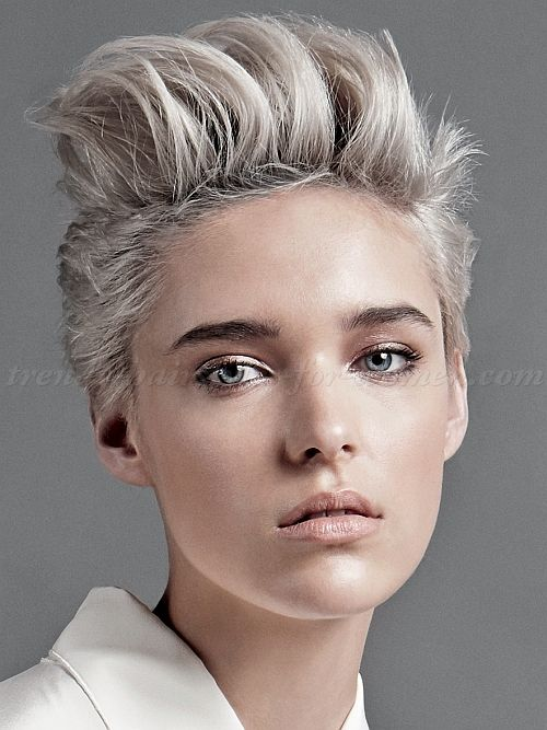 short hairstyles 2015, women faux hawk, short funky hairstyles, short punk hairstyles, women buzz cut, women long on top hairstyles, super short hair for women