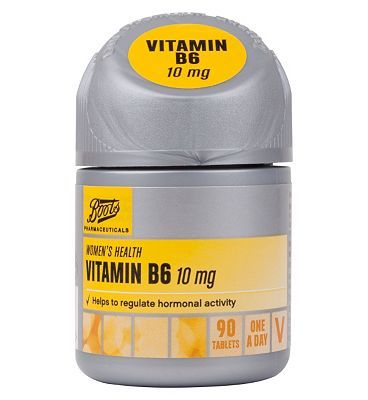 #Boots Pharmaceuticals Boots VITAMIN B6 10 mg 90 tablets 10149508 #12 Advantage card points. FREE Delivery on orders over 45 GBP. (Barcode EAN=5045097866097)